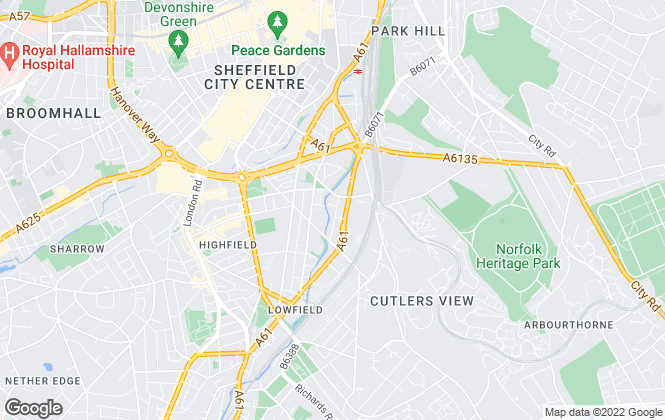 Map for Royal Riverside - PH Portfolio, Sheffield