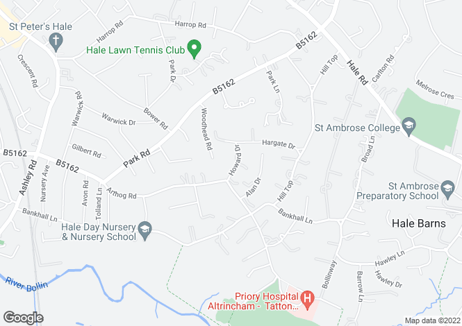 Map for Howard Drive, Hale, Cheshire