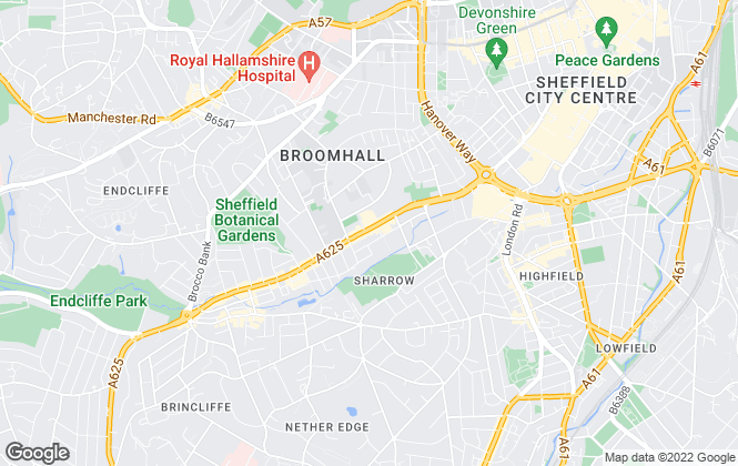Map for Igloo Accommodation, Sheffield