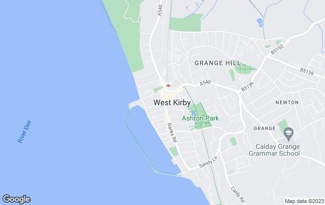 Map for Karl Tatler Lettings, West Kirby