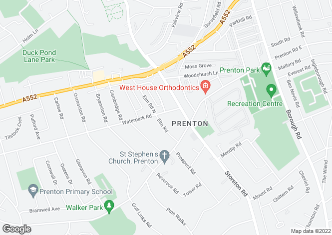 Map for Waterpark Road, Prenton