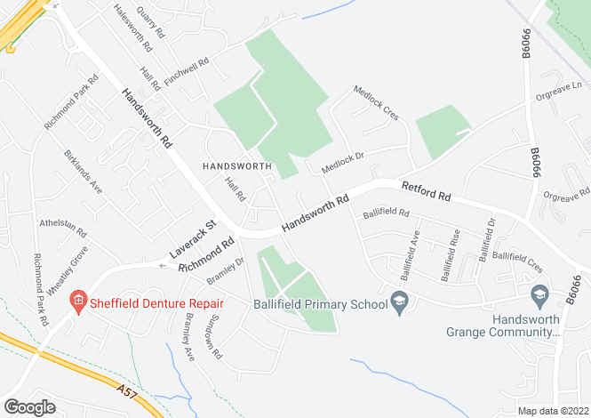 Map for Medlock Road, Handsworth