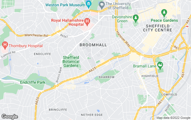 Map for Claypenny Properties, Sheffield
