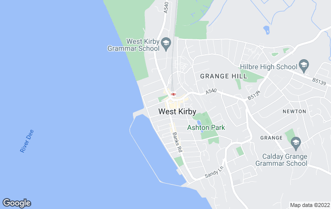 Map for Jones & Chapman, West Kirby
