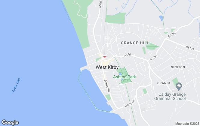 Map for Jones & Chapman - Lettings, West Kirby Lettings