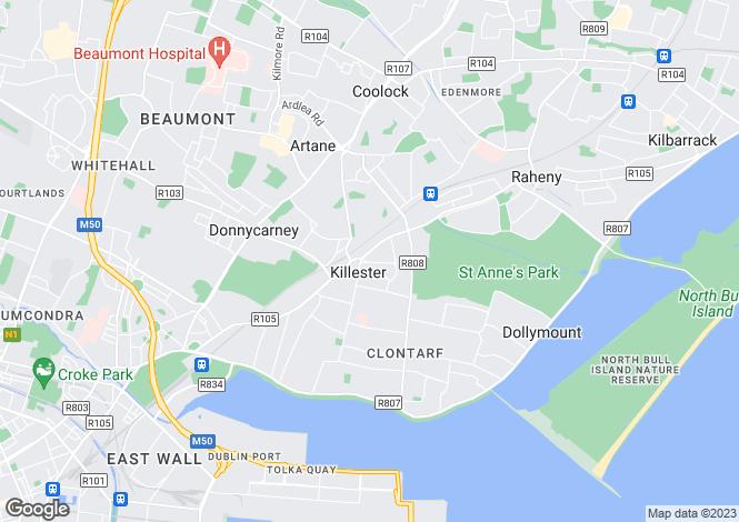 Map for 11 Furry Park Road, Killester, Dublin 5, D05 YR86