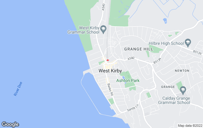 Map for Move Residential, West Kirby