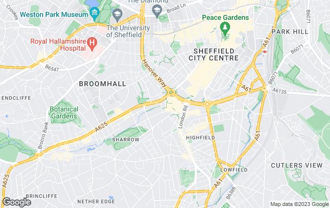 Map for LIV Student Sheffield, Sheffield