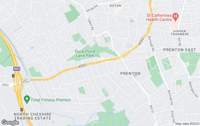 Map for Lesley Hooks Estate Agents, Prenton