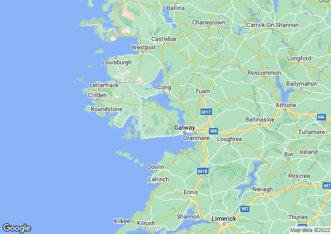 Map for Galway, Connemara