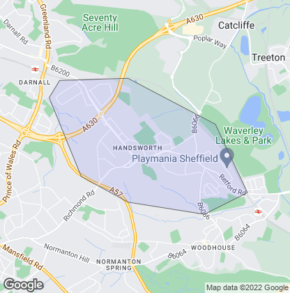 Map of property in Handsworth