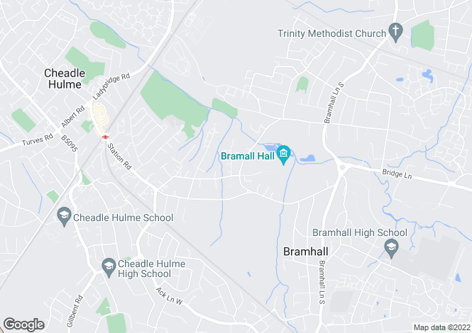 Map for Bramhall Park Road, Bramhall, Cheshire