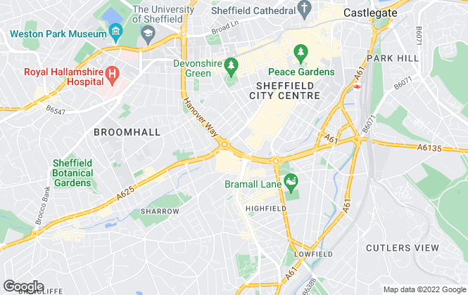 Map for The Lettings Room Ltd , Sheffield