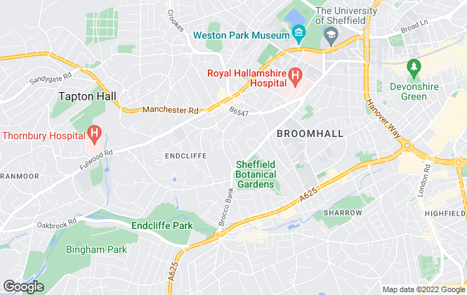 Map for Parkes Commercial, Sheffield