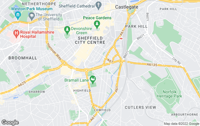 Map for Crosthwaite Commercial Limited, Sheffield