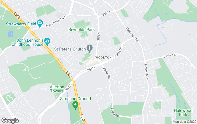 Map for BE Property Services , Woolton