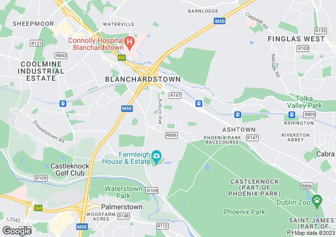 Map for 14 Park Villas, Castleknock, Dublin 15
