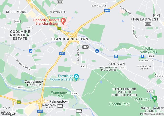 Map for 14 Park Villas, Castleknock, Dublin 15, D15 V8ER