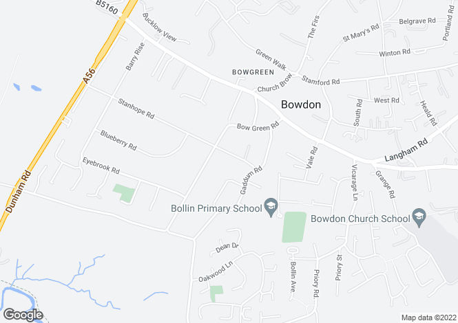 Map for Stanhope Road, Bowdon