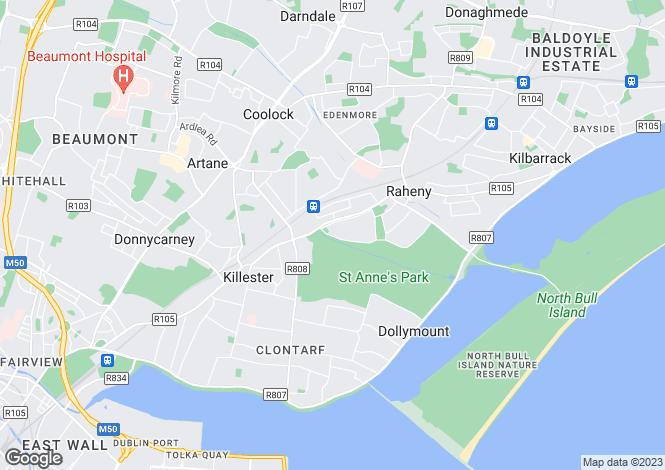 Map for All Saints Road, Raheny, Dublin 5