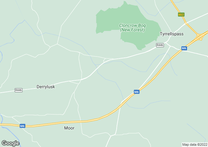 Map for Newtown, Tyrrellspass, Westmeath