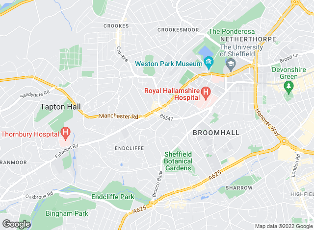 Map for Eadon Lockwood & Riddle, Broomhill
