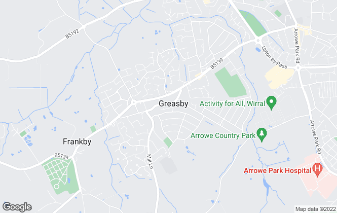 Map for Jones & Chapman, Greasby