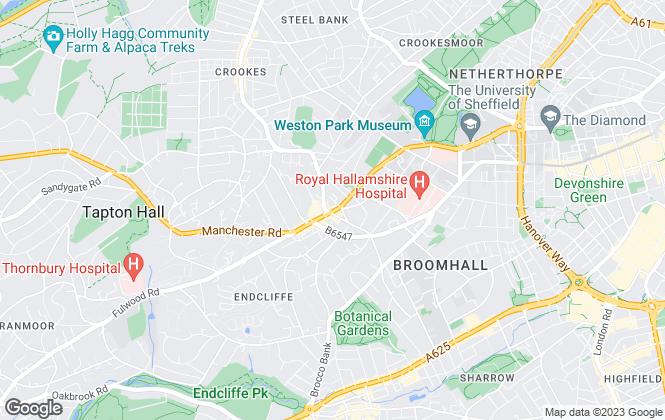 Map for Tapton Estates, Sheffield