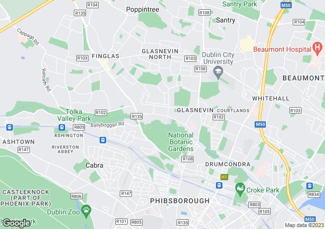Map for Glasneven, Dublin
