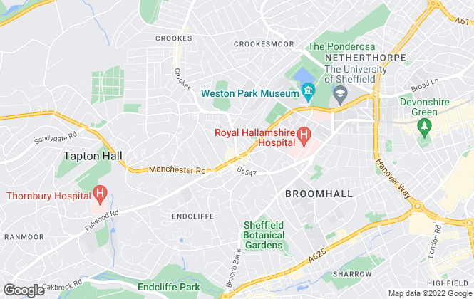 Map for The Lettings Boutique, Sheffield