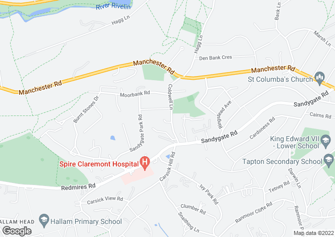 Map for 49 Coldwell Lane, Sandygate, Sheffield, S10 5TJ