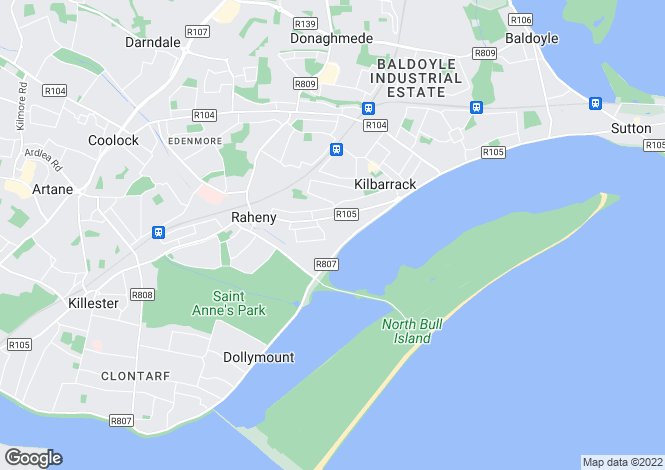 Map for Bettyglen, Raheny, Dublin 5