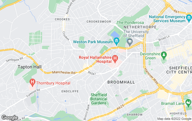 Map for Broomhill Property Shop, Sheffield