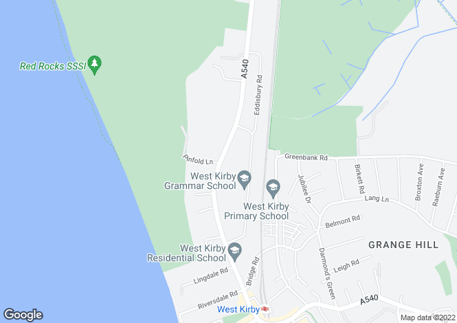 Map for Meols Dr, West Kirby