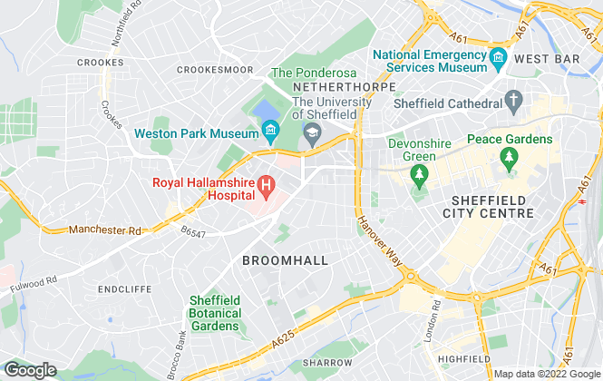 Map for BPS Estates, Sheffield