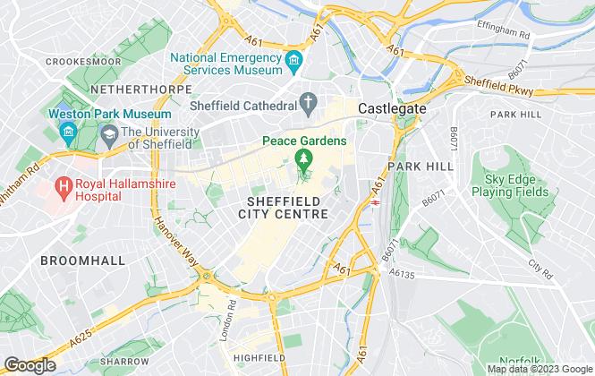 Map for Sheffield Residential, Sheffield