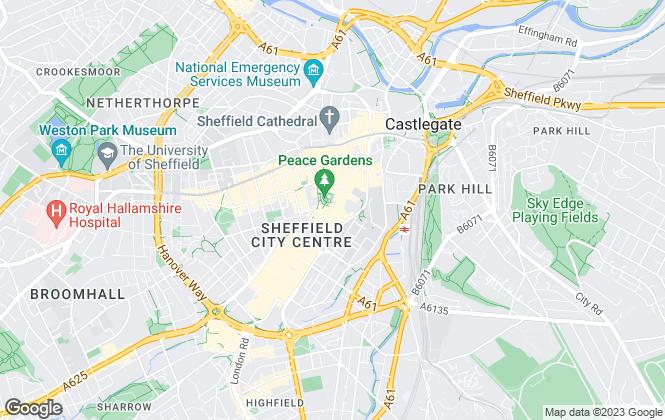 Map for Lambert Smith Hampton, Sheffield