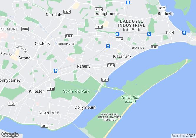 Map for Maywood Avenue, Raheny, Dublin 5