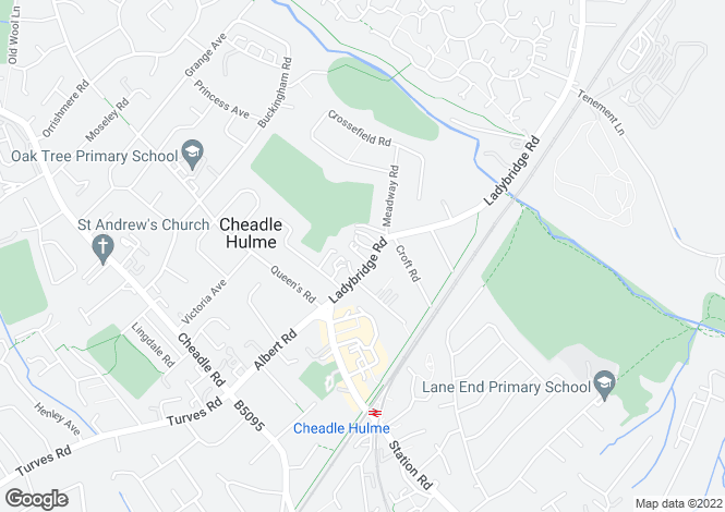 Map for Ladybrook Court, 19 Ladybridge Road, Cheadle