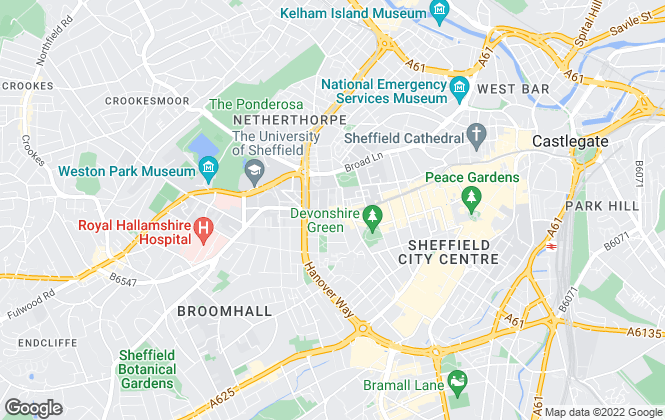 Map for Sheffield 2 Let, Sheffield