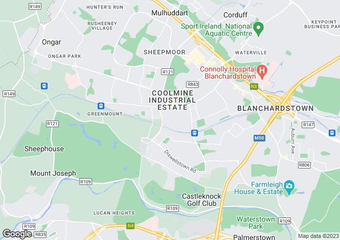 Map for 26 Windmill Terrace, Clonsilla, Dublin 15