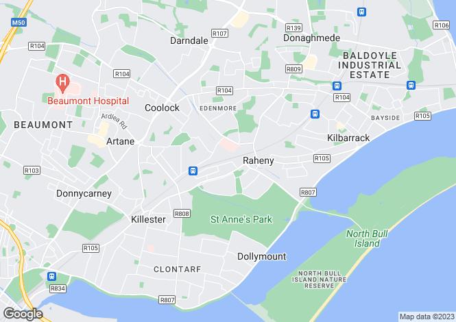 Map for 40 Cill Eanna, Raheny, Dublin 5, D05 VE42