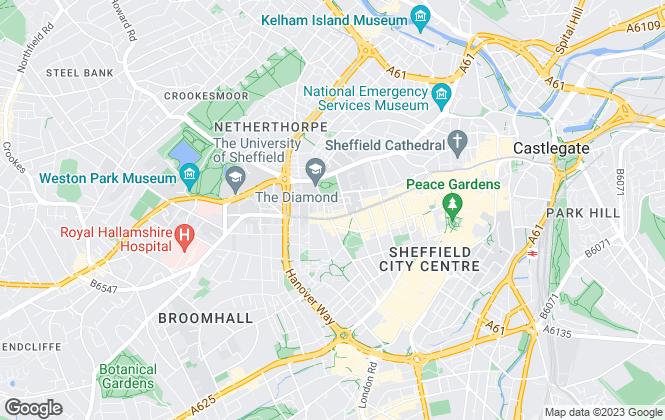 Map for Sunrisestar Ltd, Sheffield