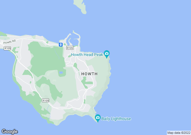 Map for Cannon Rock, Upper Cliff Road, Howth, Co Dublin, D13 R2V6