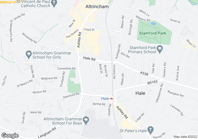 Map for Bold Street, Altrincham, Greater Manchester