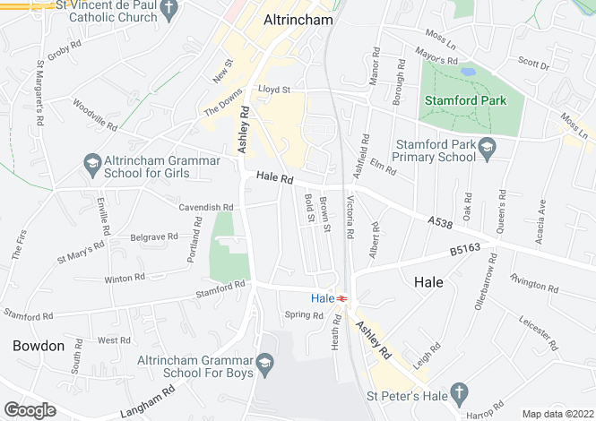 Map for Byrom Street, Altrincham