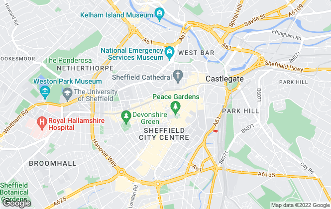 Map for Knight Frank, Sheffield