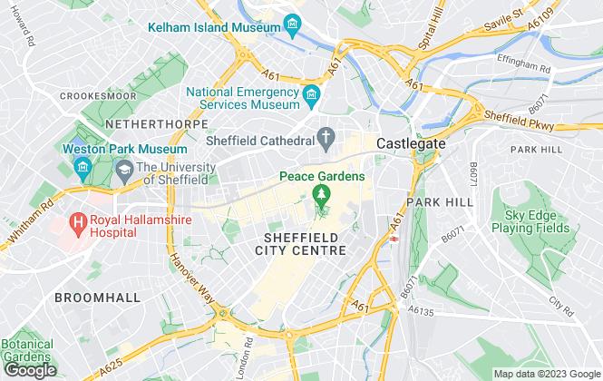 Map for BNP PARIBAS REAL ESTATE ADVISORY & PROPERTY MANAGEMENT UK LIMITED, Sheffield