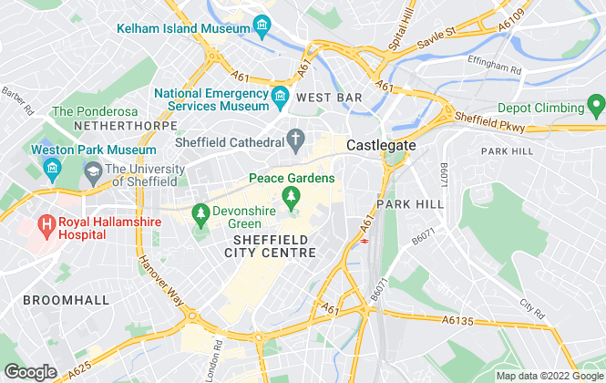 Map for Mark Jenkinson and son, Sheffield