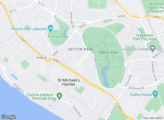 Map for Park Estates , Aigburth